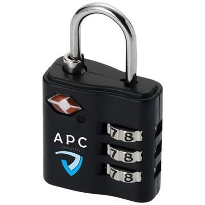 Picture of KINGSFORD TSA-COMPLIANT LUGGAGE LOCK in Black Solid