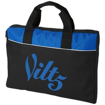Picture of TAMPA CONFERENCE BAG in Black Solid-royal Blue