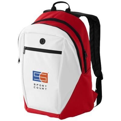 Picture of OZARK HEADPHONES PORT BACKPACK RUCKSACK in Red