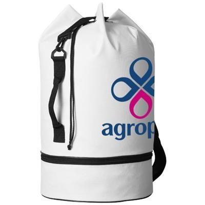 Picture of IDAHO SAILOR ZIPPERED BOTTOM DUFFLE BAG in White Solid