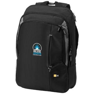 Picture of RESO 17 LAPTOP BACKPACK RUCKSACK in Black Solid