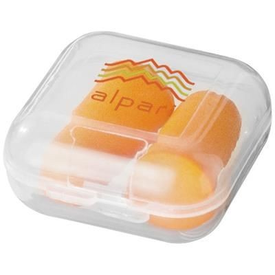Picture of SERENITY EARPLUGS with Travel Case in Orange