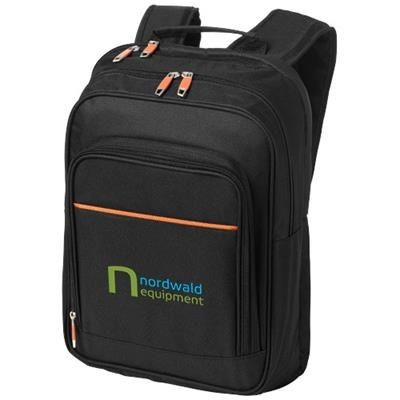 Picture of HARLEM 14 INCH LAPTOP BACKPACK RUCKSACK in Black Solid