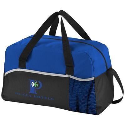 Picture of ENERGY DUFFLE BAG in Black Solid-royal Blue
