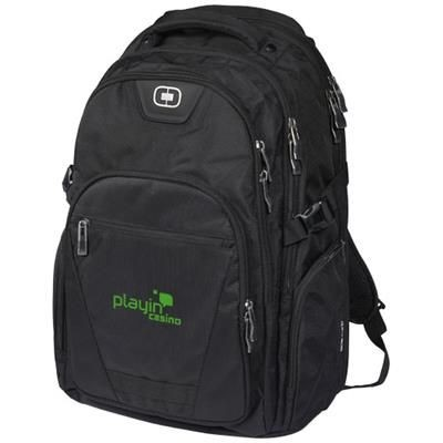 Picture of CURB 17 LAPTOP BACKPACK RUCKSACK in Black Solid