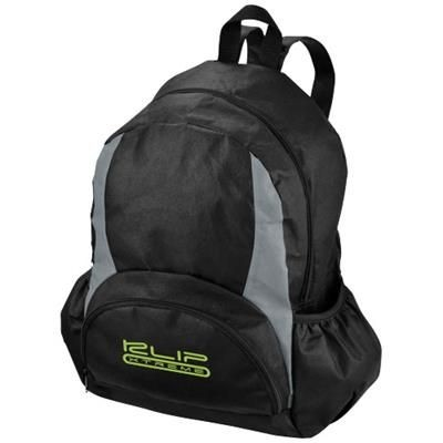 Picture of BAMM-BAMM NON WOVEN BACKPACK RUCKSACK in Black Solid-grey
