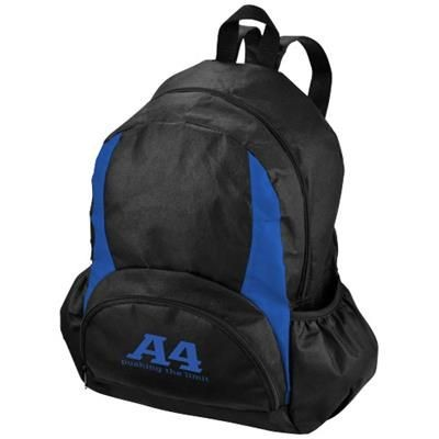 Picture of BAMM-BAMM NON WOVEN BACKPACK RUCKSACK in Black Solid-royal Blue