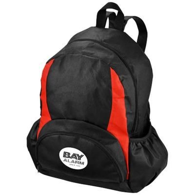 Picture of BAMM-BAMM NON WOVEN BACKPACK RUCKSACK in Black Solid-red