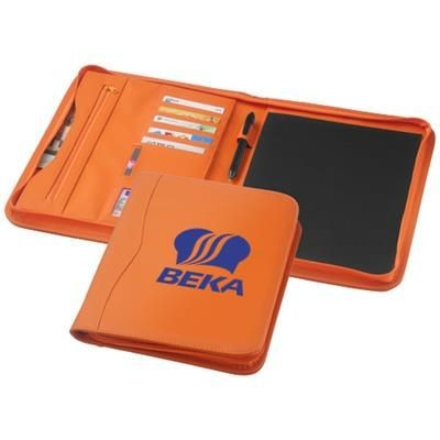 Picture of EBONY A4 ZIPPER PORTFOLIO in Orange