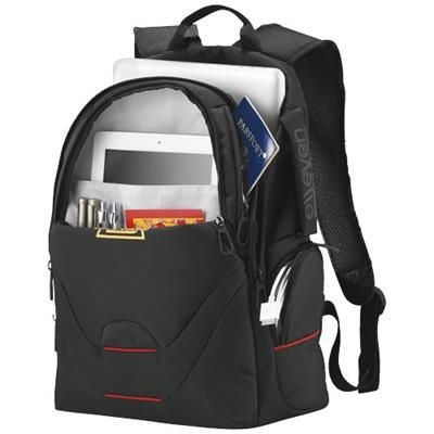 Picture of MOTION 15 LAPTOP BACKPACK RUCKSACK in Black Solid