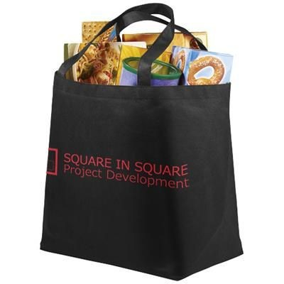 Picture of MARYVILLE NON-WOVEN SHOPPER TOTE BAG in Black Solid