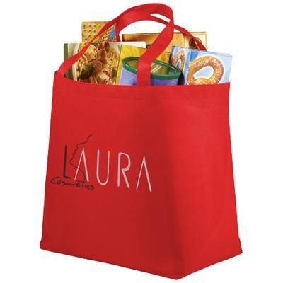 Picture of MARYVILLE NON-WOVEN SHOPPER TOTE BAG in Red