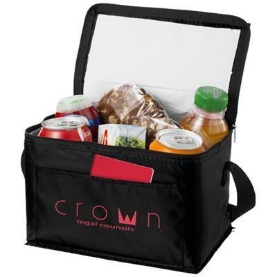 Picture of KUMLA SLASH POCKET LUNCH COOL BAG in Black Solid