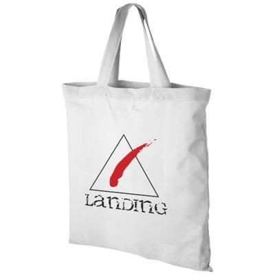 Picture of VIRGINIA 100 G-M² COTTON TOTE BAG SHORT HANDLES in White Solid
