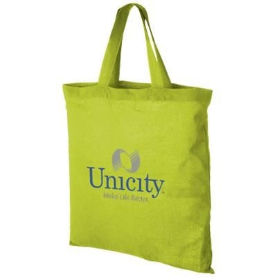 Picture of VIRGINIA 100 G-M² COTTON TOTE BAG SHORT HANDLES in Apple Green