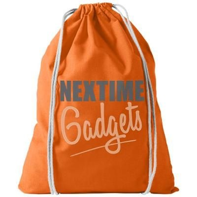 Picture of OREGON 100 G-M² COTTON DRAWSTRING BACKPACK RUCKSACK in Orange
