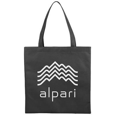 Picture of ZEUS SMALL NON-WOVEN CONVENTION TOTE BAG in Black Solid