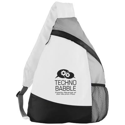 Picture of ARMADA SLING BACKPACK RUCKSACK in White Solid
