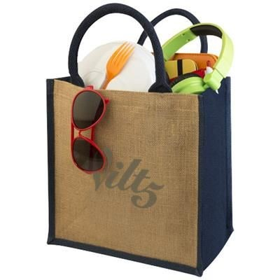 Picture of CHENNAI JUTE TOTE BAG in Natural-navy