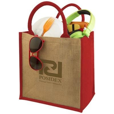 Picture of CHENNAI JUTE TOTE BAG in Natural-red
