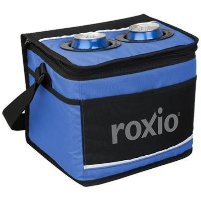 Picture of 12-CAN DRINK POCKET COOLER in Royal Blue-black Solid