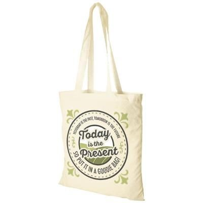 Picture of MADRAS 140 G-M² COTTON TOTE BAG in Natural