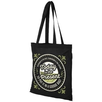 Picture of MADRAS 140 G-M² COTTON TOTE BAG in Black Solid