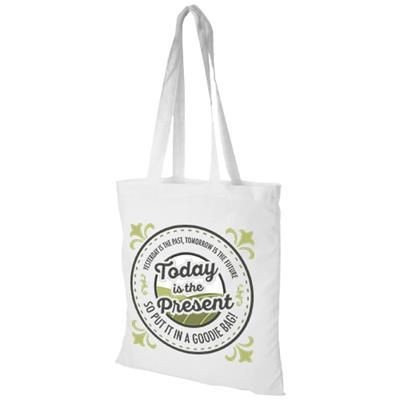 Picture of MADRAS 140 G-M² COTTON TOTE BAG in White Solid