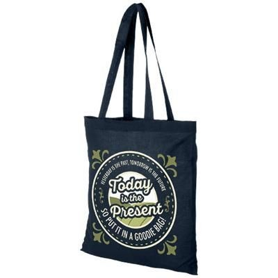 Picture of MADRAS 140 G-M² COTTON TOTE BAG in Navy