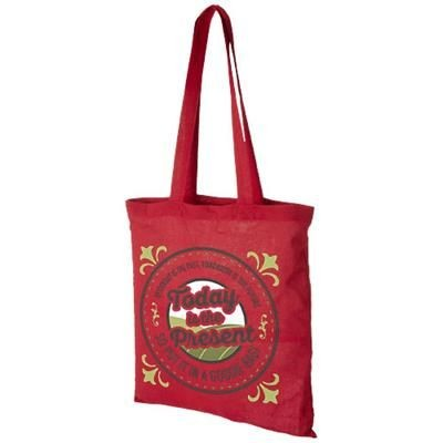 Picture of MADRAS 140 G-M² COTTON TOTE BAG in Red