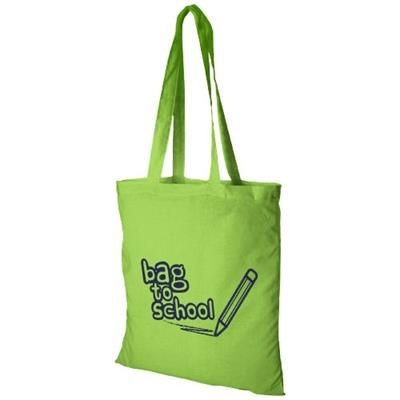 Picture of MADRAS 140 G-M² COTTON TOTE BAG in Lime