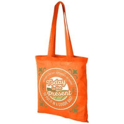 Picture of MADRAS 140 G-M² COTTON TOTE BAG in Orange