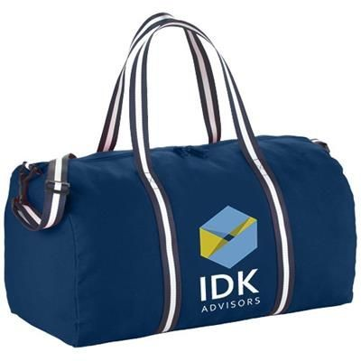 Picture of WEEKENDER COTTON TRAVEL DUFFLE BAG in Navy