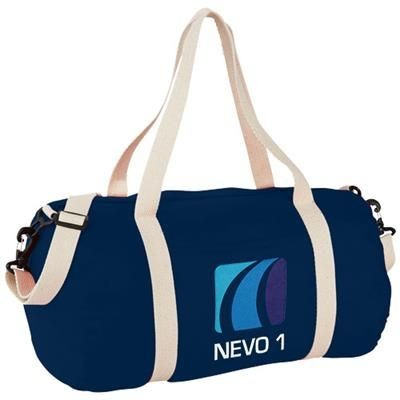 Picture of COCHICHUATE COTTON BARREL DUFFLE BAG in Navy