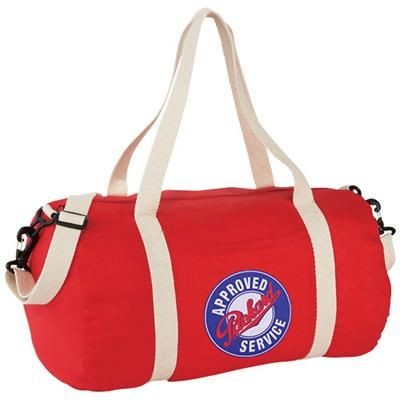 Picture of COCHICHUATE COTTON BARREL DUFFLE BAG in Red