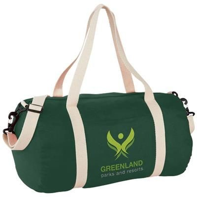 Picture of COCHICHUATE COTTON BARREL DUFFLE BAG in Green