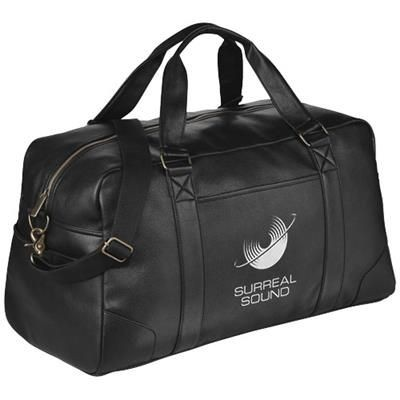 Picture of OXFORD WEEKEND TRAVEL DUFFLE BAG in Black Solid
