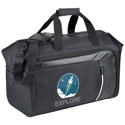 Picture of VAULT RFID TRAVEL DUFFLE in Black Solid