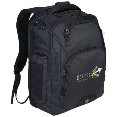 Picture of RUTTER 17 LAPTOP BACKPACK RUCKSACK in Black Solid
