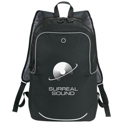 Picture of BENTON 17 LAPTOP BACKPACK RUCKSACK in Black Solid