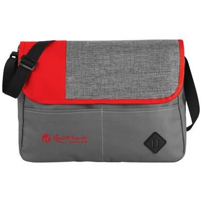 Picture of OFFSET MESSENGER BAG in Grey-red