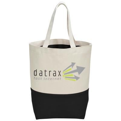 Picture of COLOUR-POP 284 G-M² COTTON TOTE BAG in Natural-black Solid