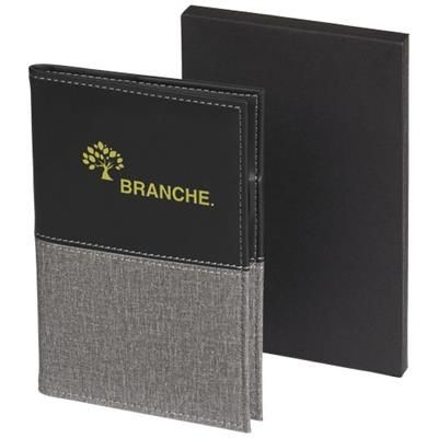 Picture of HEATHERED PASSPORT COVER in Black