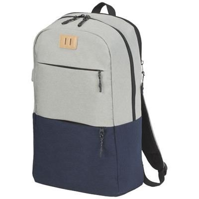 Picture of CASON 15 LAPTOP BACKPACK RUCKSACK in Navy-grey