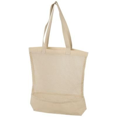 MAINE MESH COTTON TOTE BAG in Natural