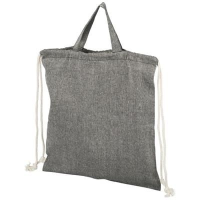 Picture of PHEEBS 150 G-M² RECYCLED COTTON DRAWSTRING BACKPACK RUCKSACK in Heather Black