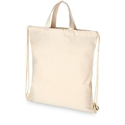 Picture of PHEEBS 210 G-M² RECYCLED COTTON DRAWSTRING BACKPACK RUCKSACK in Natural