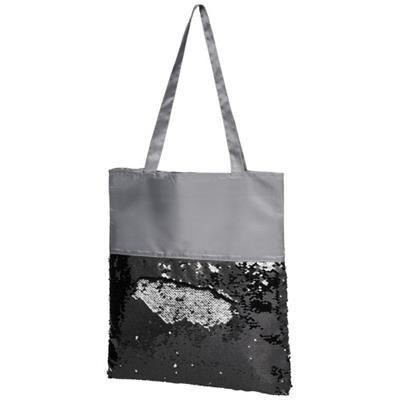 Picture of MERMAID SEQUIN TOTE BAG in Grey-black Solid