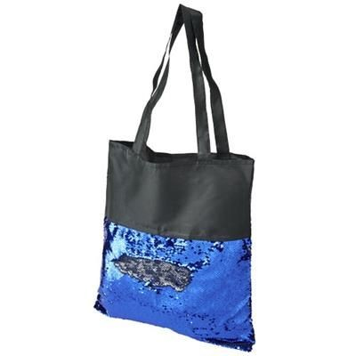 Picture of MERMAID SEQUIN TOTE BAG in Black Solid-blue