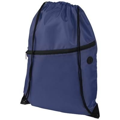 Picture of ORIOLE ZIPPERED DRAWSTRING BACKPACK RUCKSACK in Navy